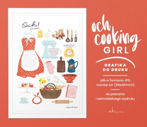 OCH COOKING GIRL — GRAFIKA DO DRUKU
