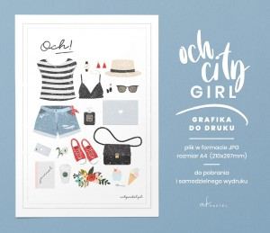 OCH CITY GIRL — GRAFIKA DO DRUKU