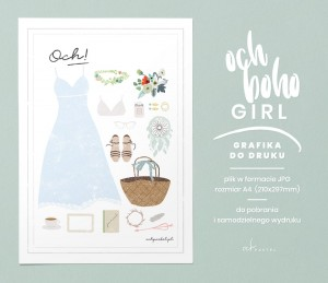 OCH BOHO GIRL — GRAFIKA DO DRUKU