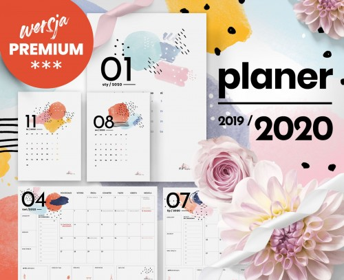 Premium Och Planer 2019 2020 Grafika Do Druku