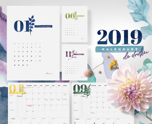 Kalendarz I Planery 2019 Do Druku Bonusy Och Pastel Plakaty Do